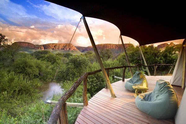 Marataba - um hotel de luxo na reserva na África do Sul