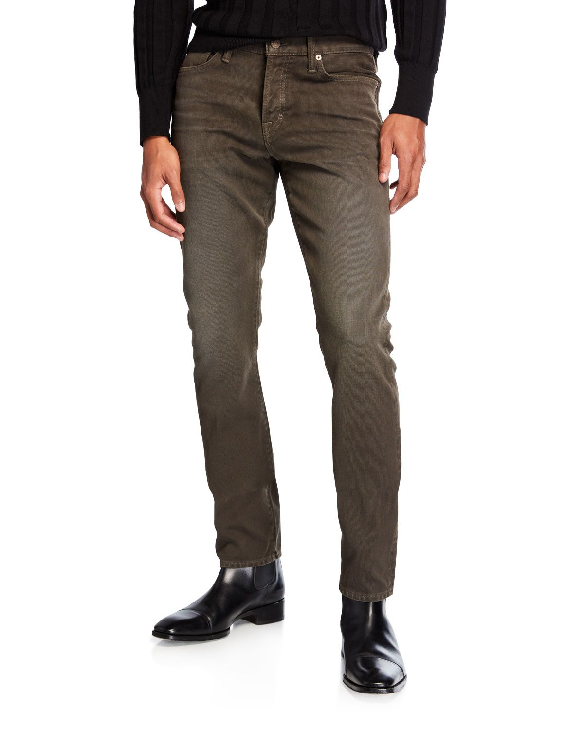 bad263f294363d TOM FORD MEN'S SLIM-FIT BUTTON-FLY JEANS. #tomford #cloth   Tom Ford ...