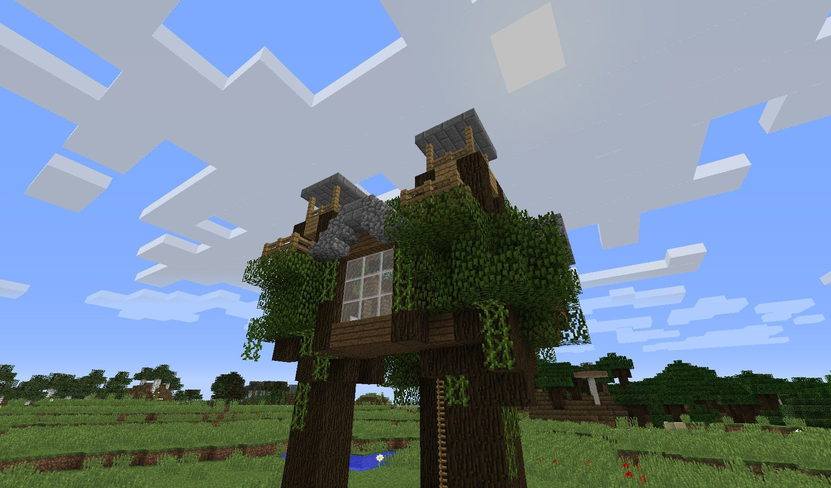 Minecraft Tutorial: How To Build An Easy And Cool Tree House