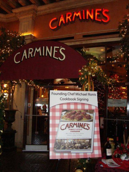 Italian Food Restaurant Names: Carmines. 200 West 44th Street, NYC