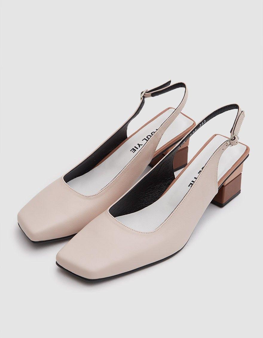 dd724f9b7b Square Toe Slingback in Skin in 2019   Wishlist   Shoes, Strap heels ...