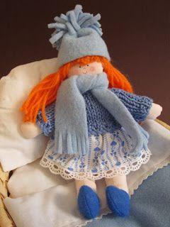 el botonsin: Bambolina con il suo lettino… non parlo, non canto...