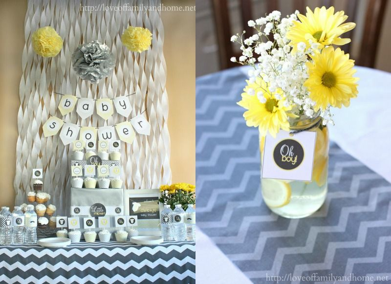 Yellow And Grey Baby Shower Ideas So That S A Wrap On The Gray And