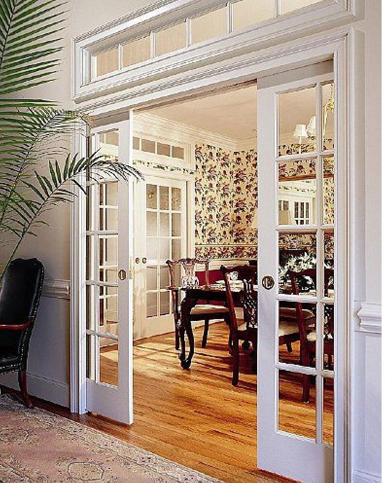 note - - Sliding doors / Pocket Doors and a Transom Window