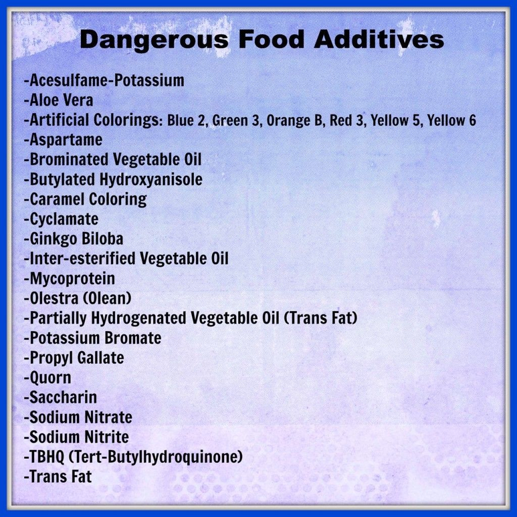 Dangerou Food Additive That You Re Probably Eating Everyday Printable List Can Take To The Grocery Reading Label Good Know Essay