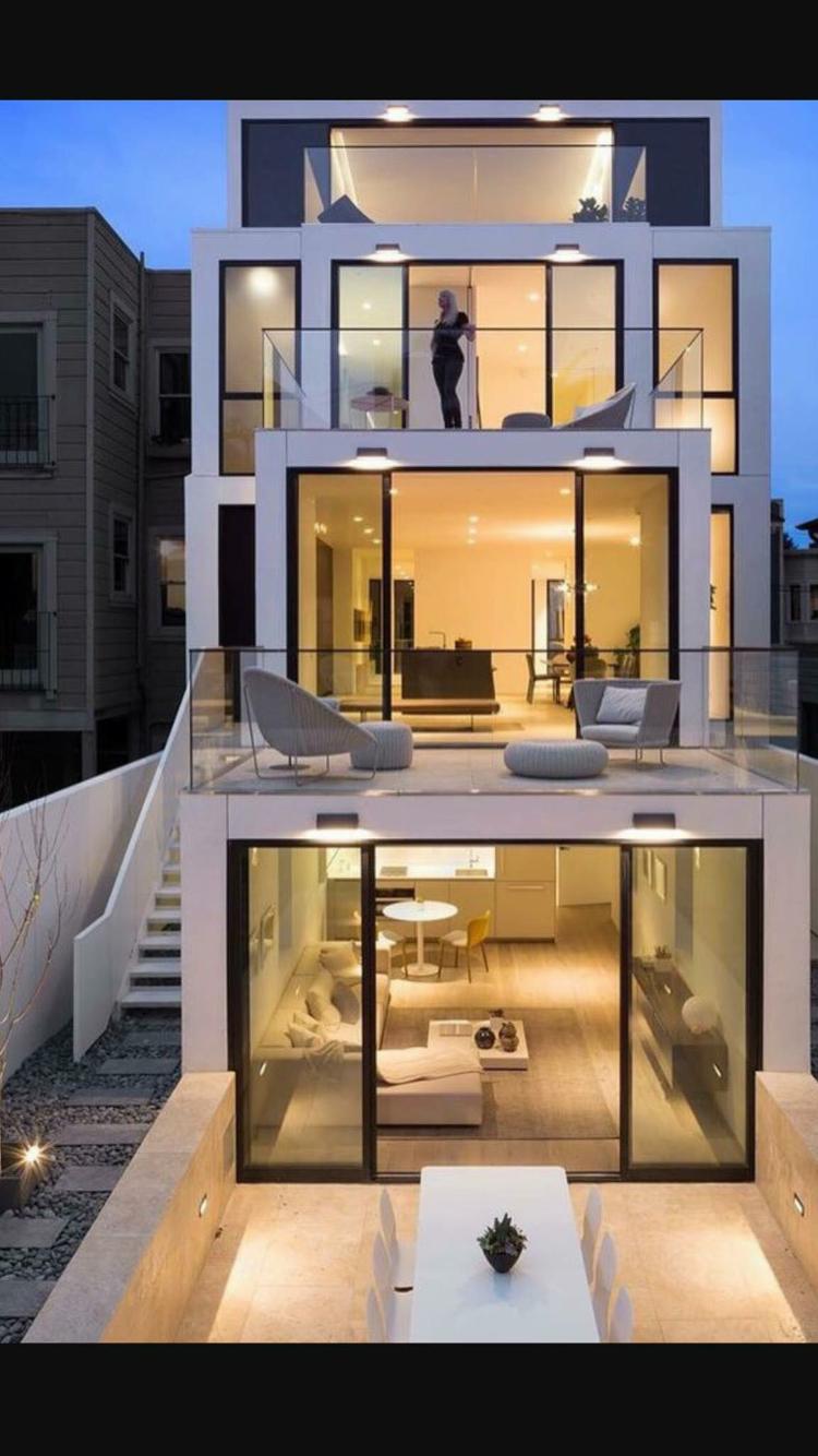 Clever Use Of A Small Lot Architecture De Maison Maison D