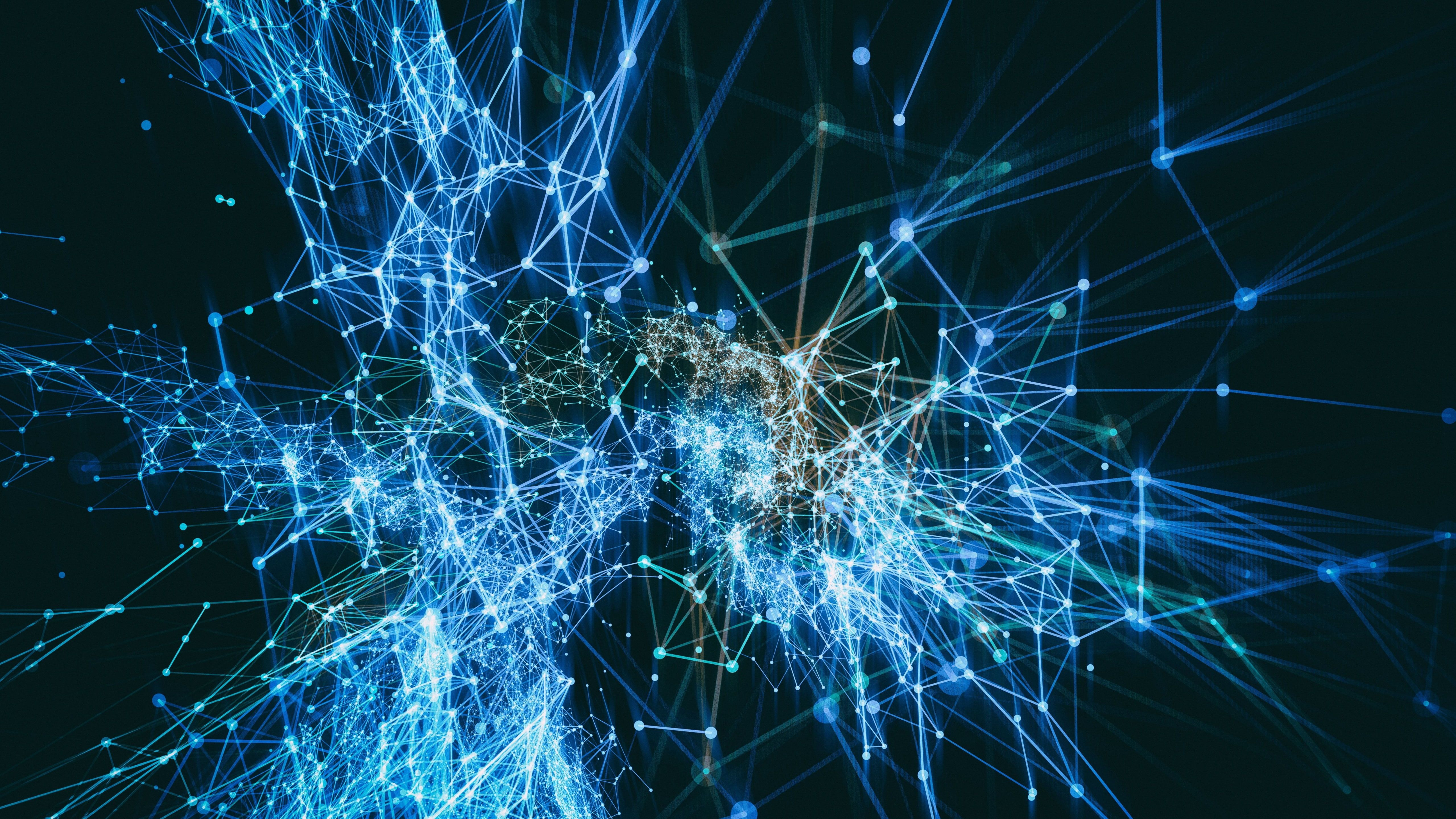 5k Uhd Blue Light Network System Fractal Art Net Meshes Digital Art 5k Line Electric Blue Darkness 5k Wallpaper Hd Fractal Art Fractals Digital Art