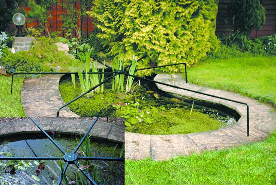 Die Gartenspinne Schutz Fur Den Teich Vor Herabfallendem Laub Und Geflugelten Fischdieben Wasserpflanzen Bepflanzung Gartenbedarf