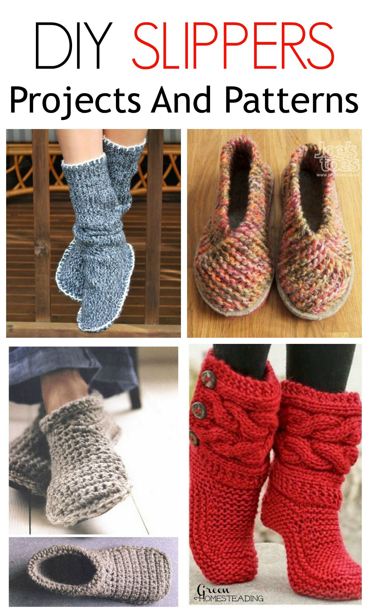6 Cozy Diy Slippers Projects And Patterns