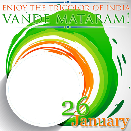 Create Republic of India Vande Mataram Frame With Your Photo ...