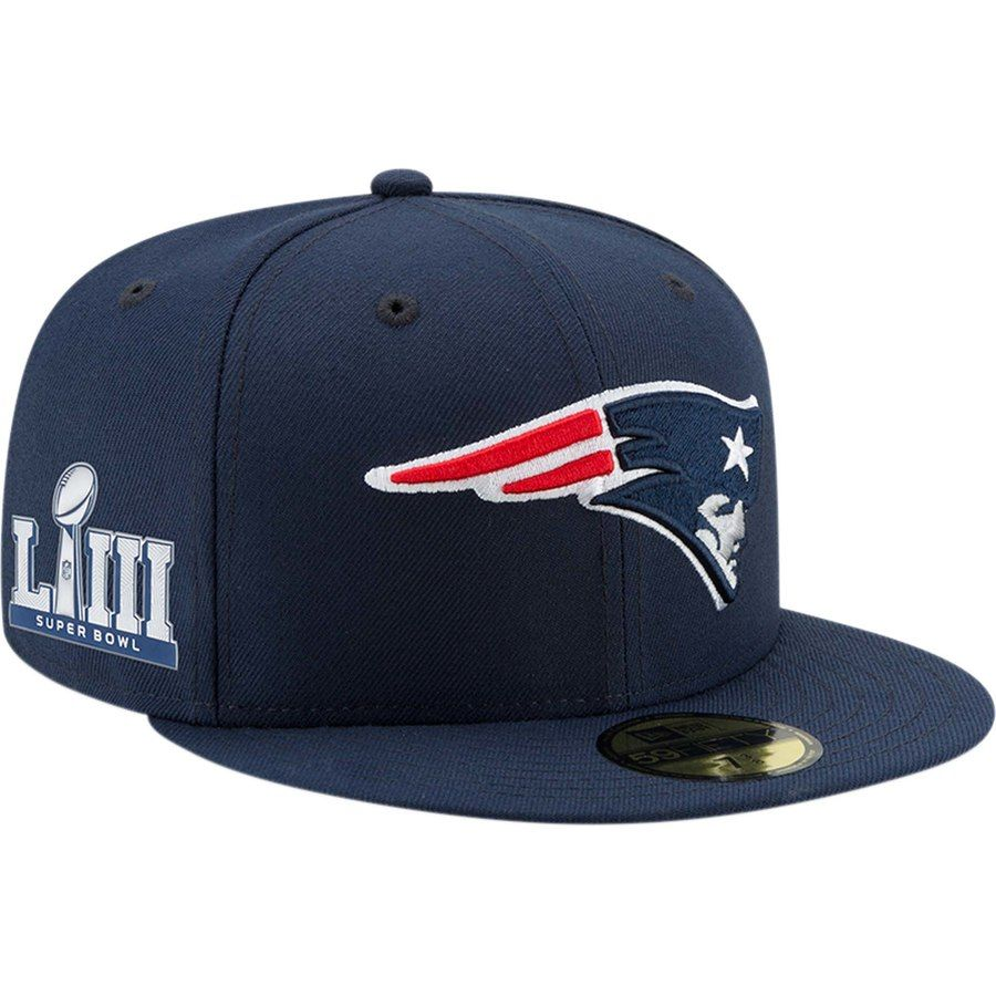 info for 1731f d49fc Men s New England Patriots New Era Navy Super Bowl LIII Side Patch Sideline  59FIFTY Fitted Hat, Your Price   37.99