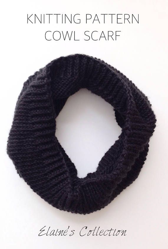 Knitted Cowl Patterns Infinity Knit Cowl Pattern Knit Pdf Cowl