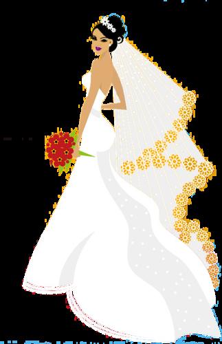 Свадьба. Жених и невеста. Векторный клипарт | Свадьба ...
