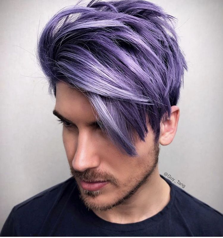 Lilac Hair Color Men Google Search In 2020 Men Hair Color Dyed Hair Men Hair And Beard Styles