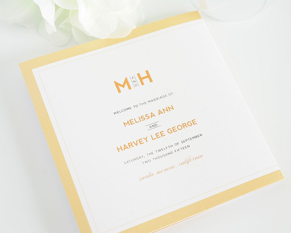 Modern Initials Wedding Programs | Wedding programs, Initials and ...