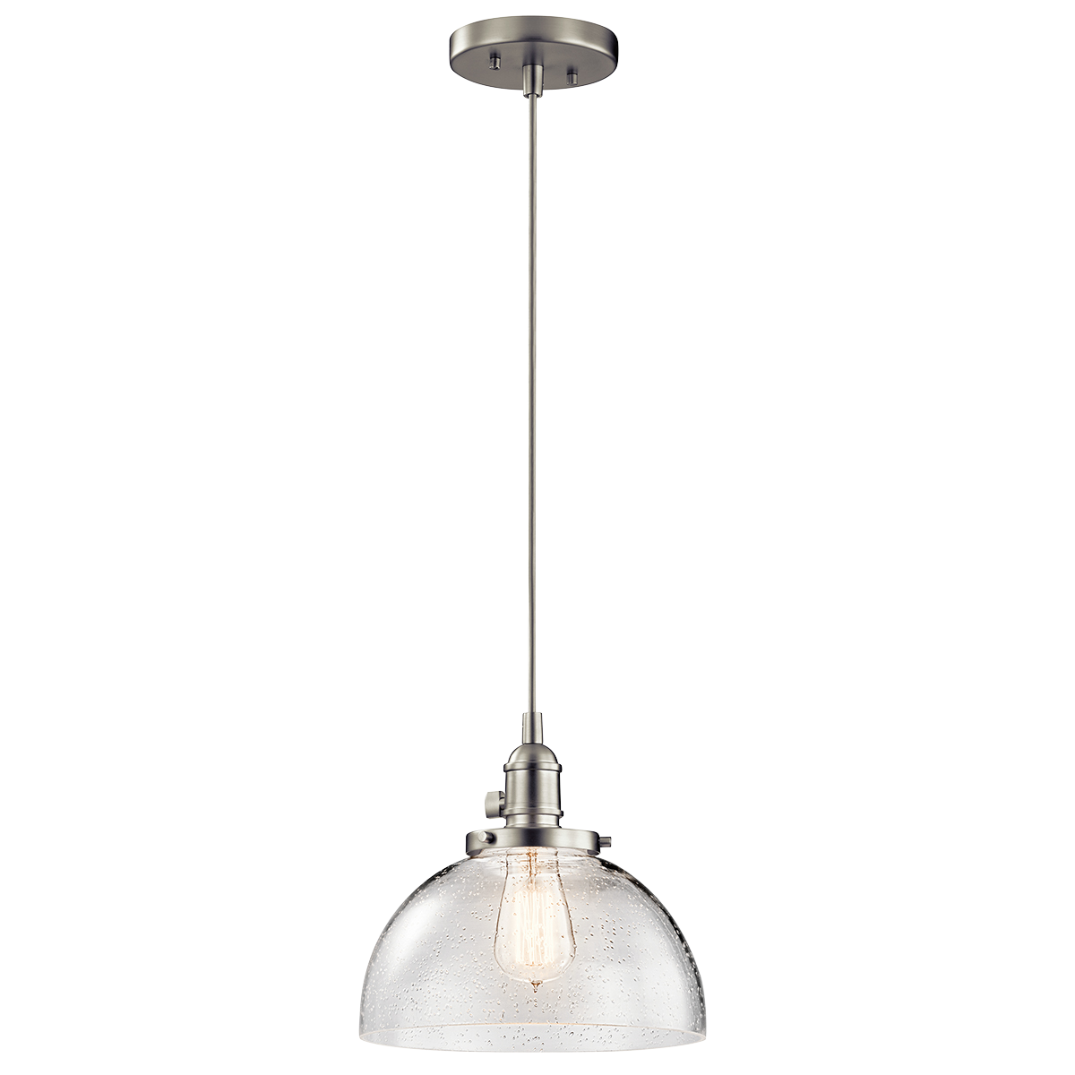 1 light avery mini pendant brushed nickel kitchen island