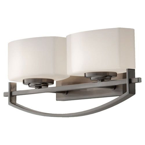 Bleeker Street Brushed Steel Two-Light Bath Fixture | Products