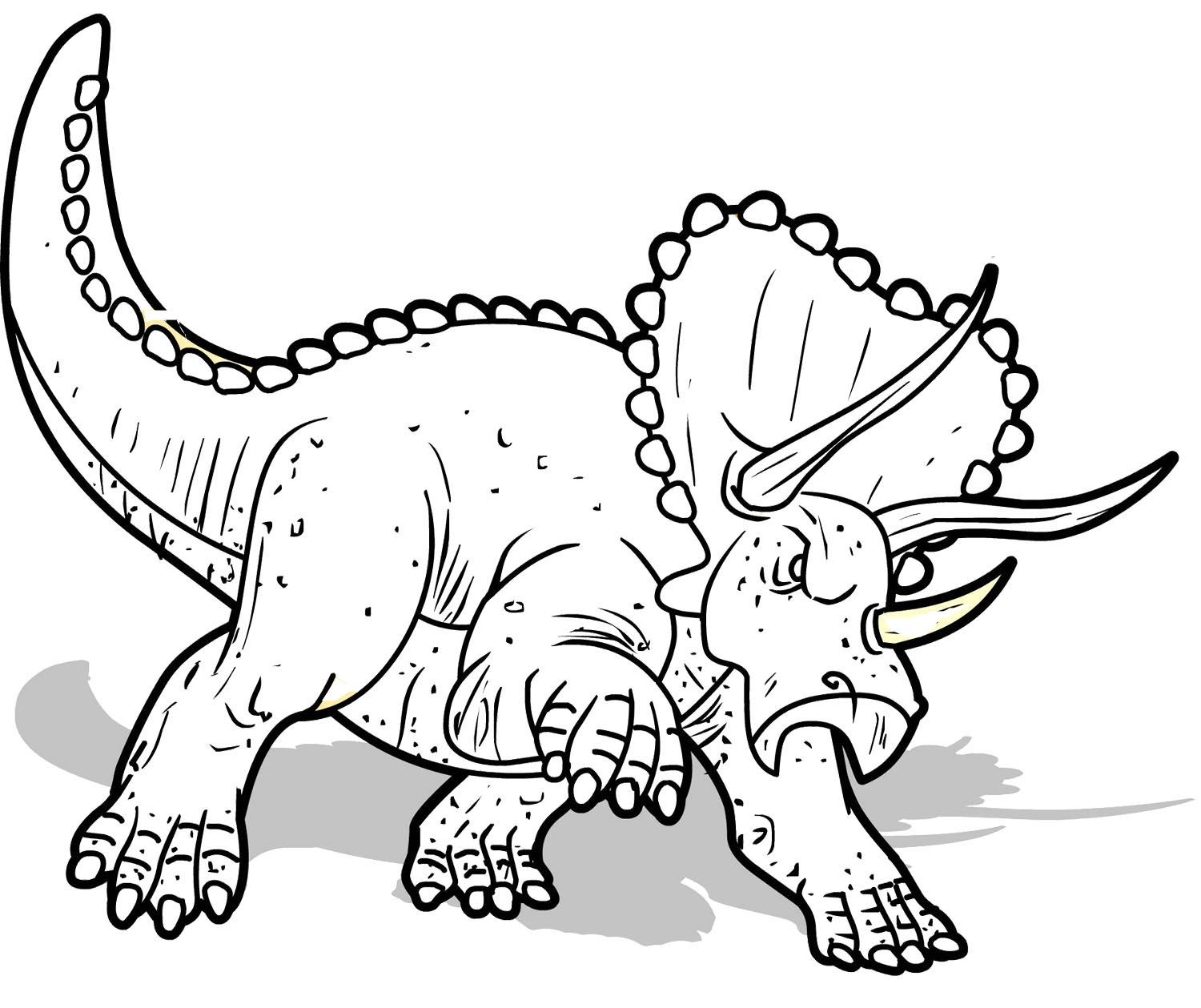 triceratopsaurus coloring page dinosaur pinterest activities