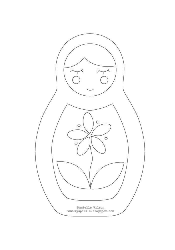 #2 my sparkle: Matryoshka Doll Ornament To make your own