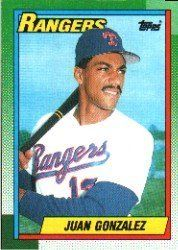 1990 Topps #331 Juan Gonzalez RC by Topps. $1.49. 1990 Topps Co. trading card in near mint/mint condition, authenticated by Seller