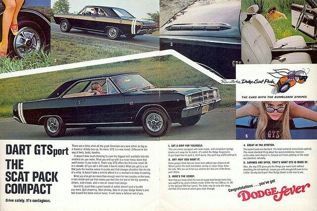 68 Dart Gts 2 Page Ad Car Advertising Vintage Ads Dodge