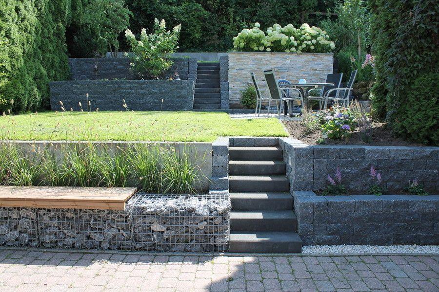 Gartengestaltung hanglage gabionen google suche a for Gartenidee hanglage