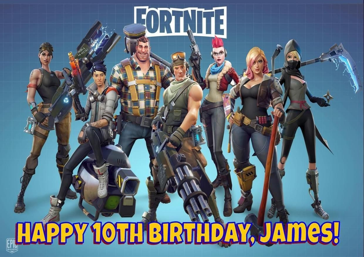 FORTNITE PERSONALISED BIRTHDAY CARD ANY AGE NAME RELATION ps4 xbox gaming