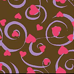 Fancy Hearts Fuchsia Lavender Chocolate Transfer Sheet Itz Very