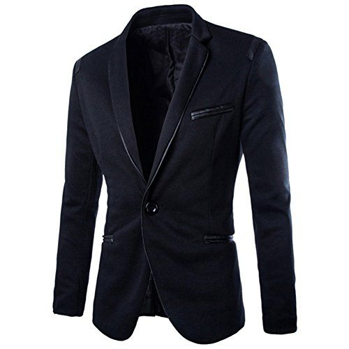 new style 1f67e 448a4 DressLoves Men s Cotton Blends Peak Lapels 1 Button Blazers Medium Black  DressLoves, wash in cold water,  37.99 on Amazon Sept 2015