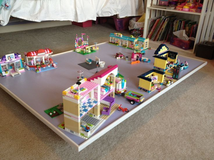 No More Stepping Over And On Lego Lego Friends Storage Lego Table Lego For Kids