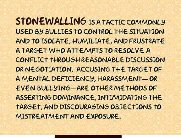 Define stonewalled