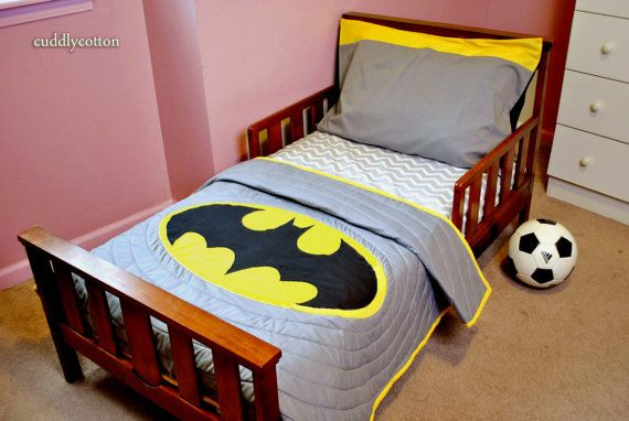 Batman Super Hero Toddler Bedding Set Toddler Quilt Fitted