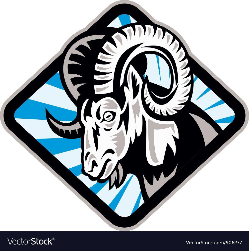 Bighorn Ram Sheep Goat Royalty Free Vector Image , AD,
