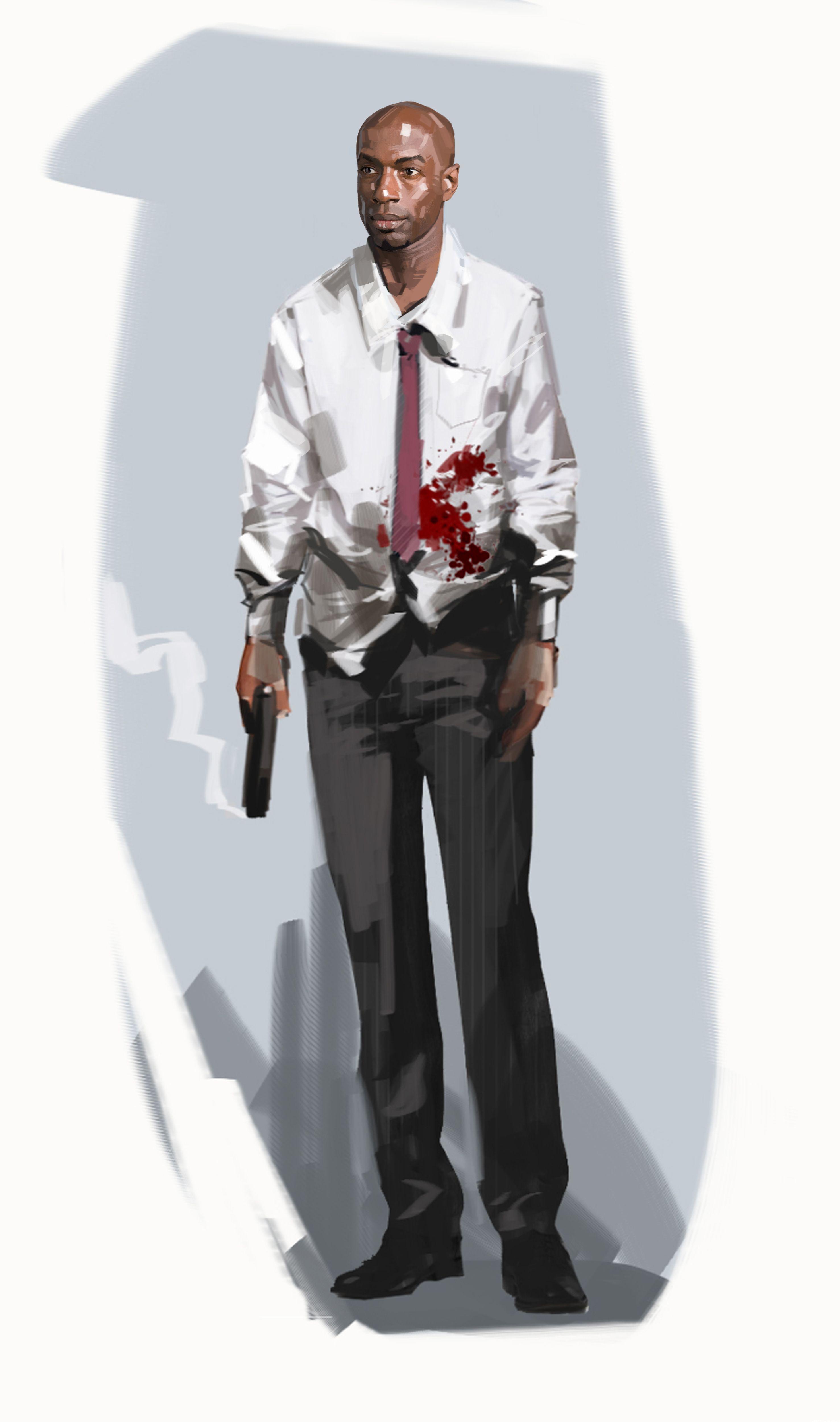 20690 Left 4 Dead Concept art for Louis the electronics