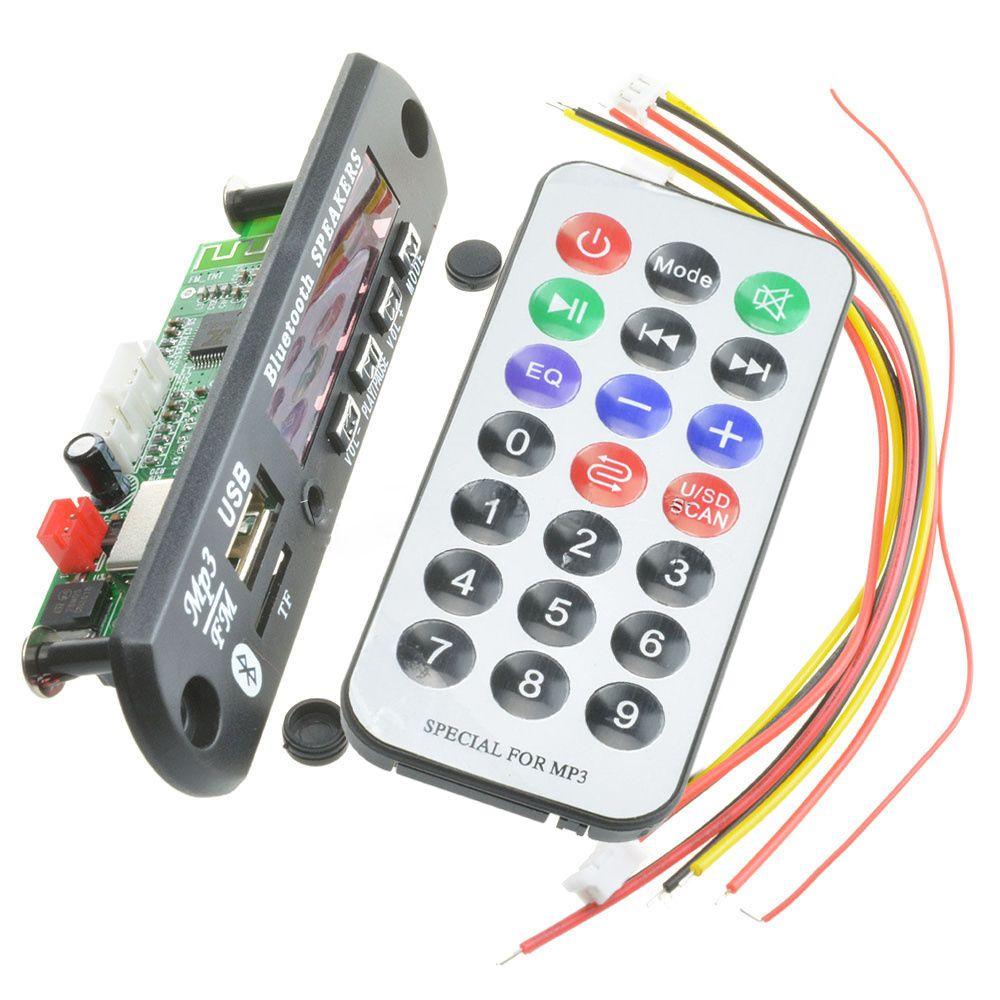 New Wireless Bluetooth 12v Mp3 Wma Decoder Board Audio Module Tf Usb Fm Transmitter Circuit Diagram Simple Radio For Car Dxy88