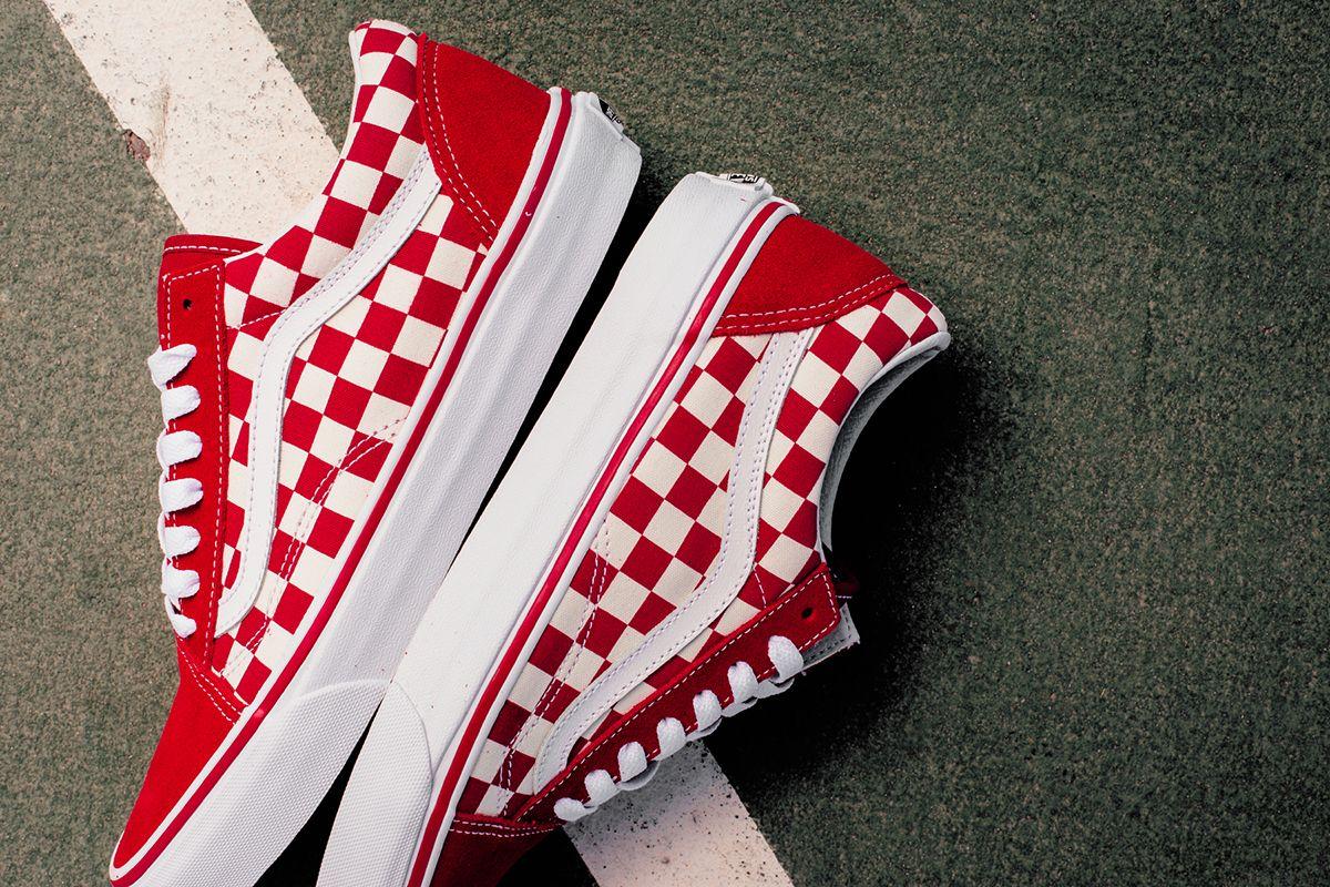 Vans Shoes | Kids Color Checkered Van Slip Ons! | Color: Red