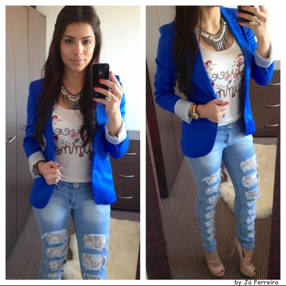 chaqueta azul francia | Ropa juvenil de moda, Ropa, Moda azul