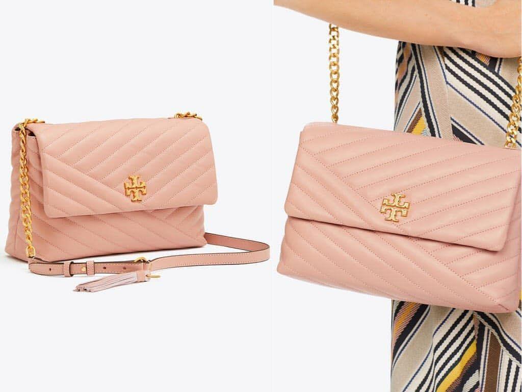 c60a4a5a0a1 #womenbags po sale 45 weeks tory burch kira chevron flap shoulder bag in  pink moon
