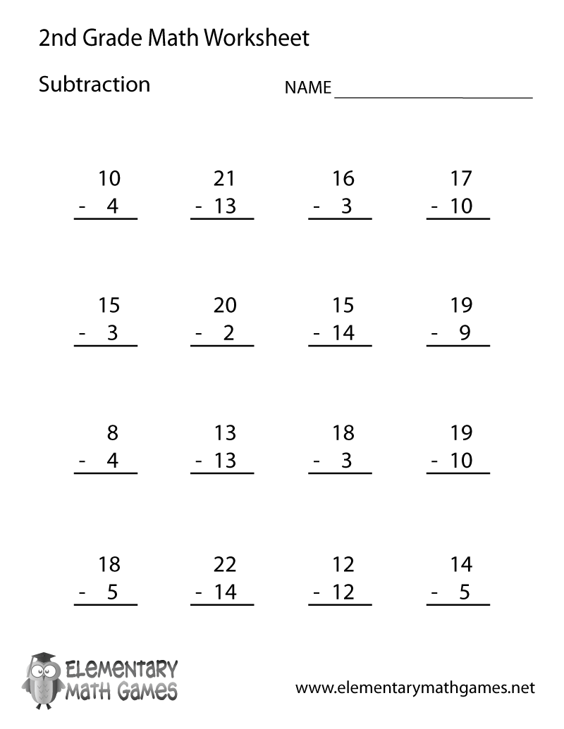 Learn and practice how to subtract with this printable 2nd grade elementary  math worksheet.   2nd grade math worksheets [ 1035 x 800 Pixel ]