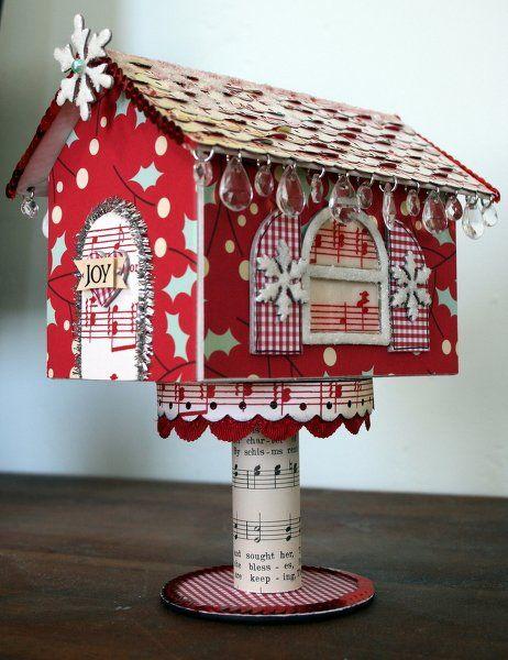 Katiebeecreative's Gallery: ~Sparkly Holiday House~Maya Road and Cosmo Cricket