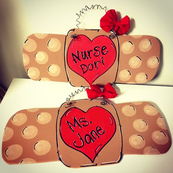 Nurse Bandaid Door Hanger  Hanger Doors And Etsy
