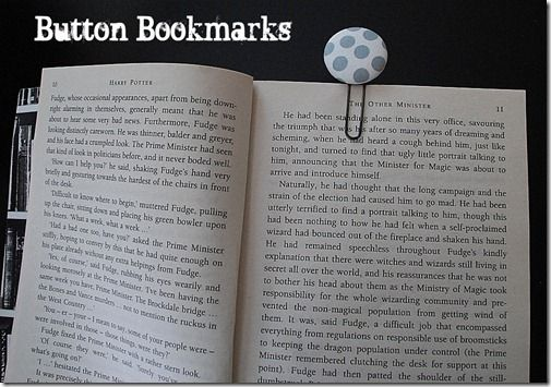 Button bookmarks...great gift idea