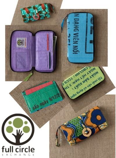Recycled Rice Bag Wallets from Full Circle Exchange, now available ...