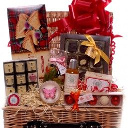 A Birthday Gift Hamper For Her Special That Is Packed Full Of Delicious Treats And Pamper Products To Make Ladies