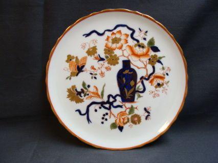 North Staffordshire George Jones And Sons Imari Style Plate Floral Plates Imari Cobalt Blue Vase