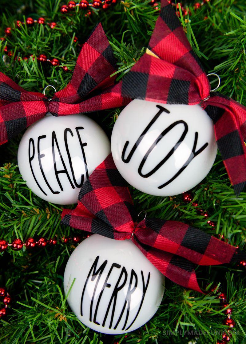 Rae Dunn Inspired Christmas Ornaments Gift IdeasHoliday