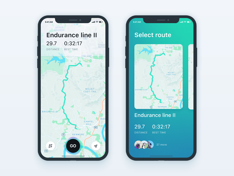 Map on iPhone X Iphone app design, Ios app design