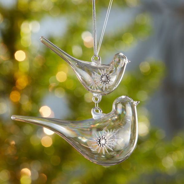 Crystal Mother and Baby Bird Ornament by Lenox