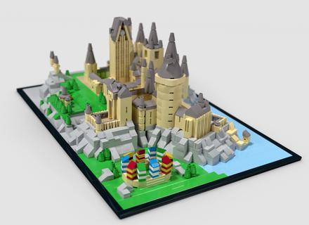 Hogwarts Castle Micro Lego Creations Pinterest Lego Lego
