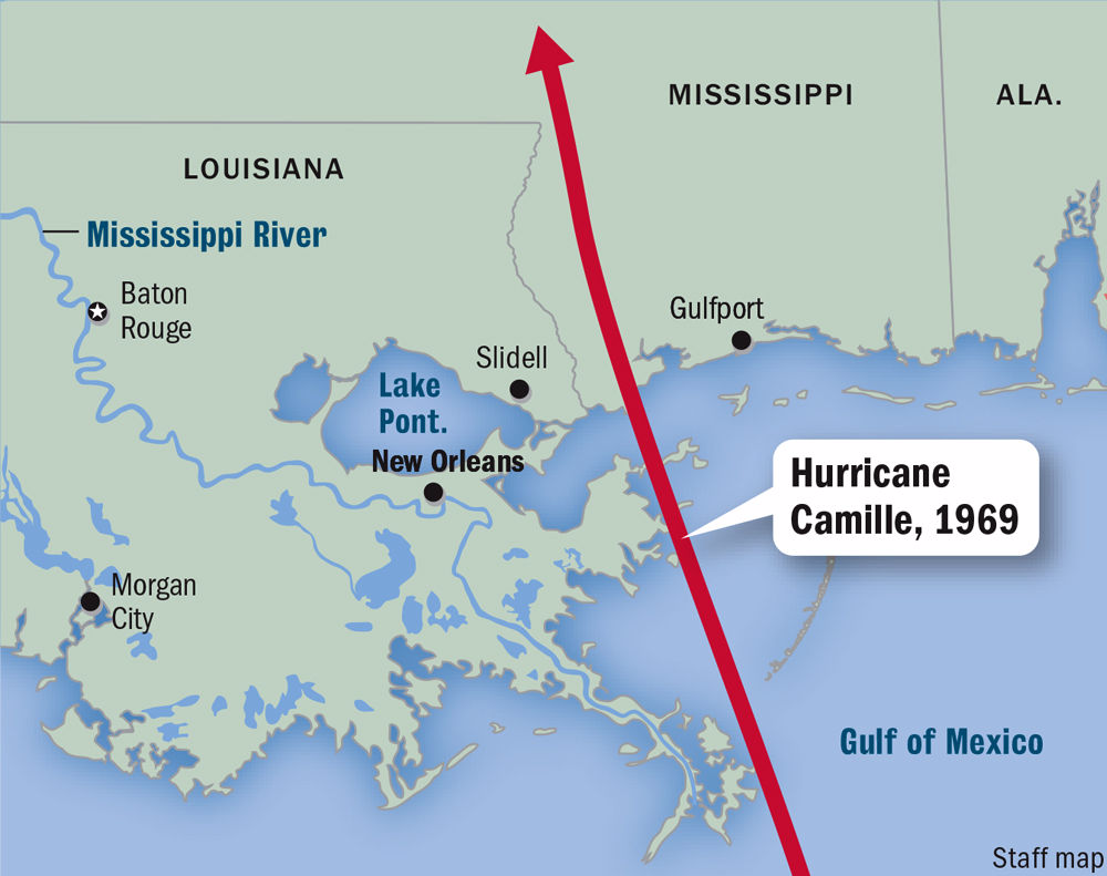 50 Years Ago Hurricane Camille Roared Into Mississippi Wiped Out Entire Coast New Orleans Hurricane Hurricane Camille National Hurricane Center